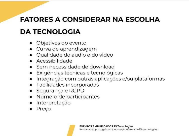 escolha tecnologia ap portugal