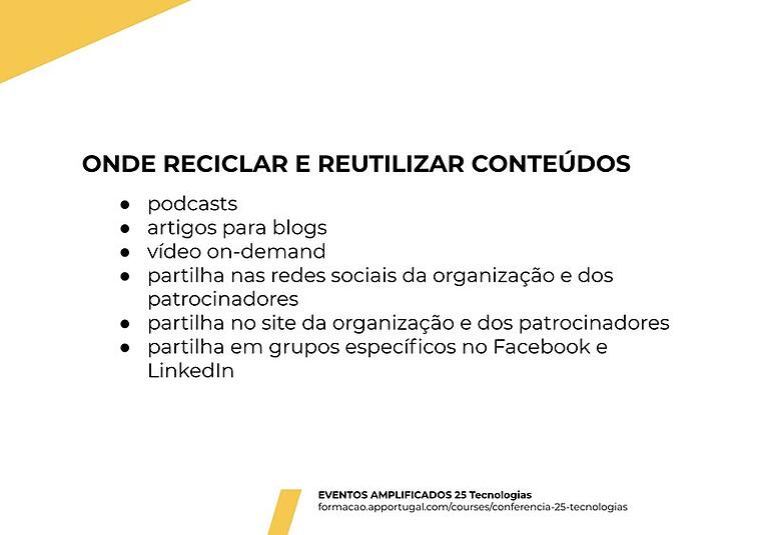 reciclar e reutilizar conteudos ap portugal